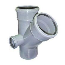 Крестовина канализационная РосТурПласт двухплоскостная 110х110х50 45° левая (19198)