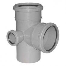 Крестовина канализационная Политэк двухплоскостная 110х110х50 90° левая (1201103)