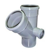 Крестовина канализационная РосТурПласт двухплоскостная 110х110х50 45°правая (19199)