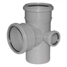 Крестовина канализационная Политэк двухплоскостная 110х110х50 90° правая (1201104)