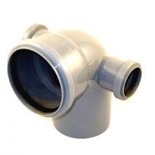 Отвод канализационный Политэк 110х50x50 90° боковые выходы (300111050ЛП1)