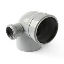 Отвод канализационный Политэк 110х50 90° левый (300111050Л)