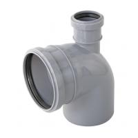 Отвод канализационный Политэк 110х50 90° верхний (300111050)
