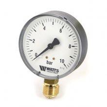 """Манометр радиальный Watts F+R200  1/4"""" 10 бар 50 мм (10007380)"""