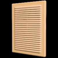 Вентиляционная решетка ERA накладная с сеткой 150х150 бежевая (1515Р беж)