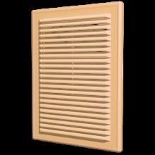 Вентиляционная решетка ERA накладная с сеткой 208х208 бежевая (2121Р беж)