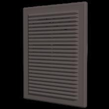 Вентиляционная решетка ERA накладная с сеткой 208х208 коричневая (2121Р кор)