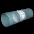 Соединитель круглых воздуховодов ERA D100 (10СКП)