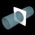Накладка торцевая ERA D100 пластиковая (10НКП)