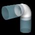 Отвод круглый ERA 90° 100 мм (10 ККП)