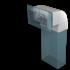 Отвод плоский ERA 90° вертикальный 110х55 (511КВП)