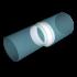 Соединитель круглых воздуховодов ERA эксцентриковый D100/125 (1012,5РЭП)