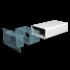 Воздуховод прямоугольный ERA пластиковый 110х55 500мм (511ВП)