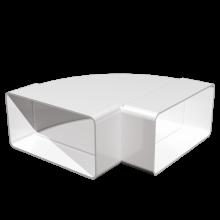 Отвод плоский ERA 90° горизонтальный 110х55 (511КГП)