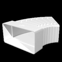 Отвод плоский ERA горизонтальный разноугловой 110х55 (511КРП)