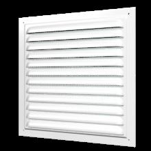 Вентиляционная решетка ERA металлическая накладная с сеткой белая 150х150 (1515МЭ)