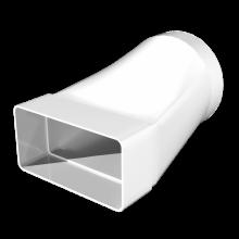 Соединитель эксцентриковый ERA плоского воздуховода с круглым 110х55 D100 (511СП10КП)