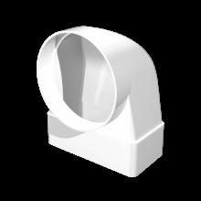 Соединитель угловой ERA 90° плоского воздуховода с фланцевым воздухораспределителем 110х55 D100 (511СК10ФП)