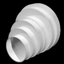 Соединитель круглых воздуховодов ERA эксцентриковый (ПУ16.15.12,5.12.10.8)