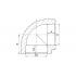 Угол полипропиленовый FV-Plast  25 мм 90° (202025)
