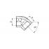 Угол полипропиленовый FV-Plast 40 мм 45° (203040)