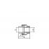 Муфта разъемная (американка) FV-Plast полипропиленовая 25х3/4 ВР (236025)