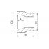 Муфта редукционная полипропиленовая FV-Plast 25х20 мм ВР-НР (210025020)