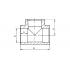 Тройник полипропиленовый FV-Plast 40 мм (208040)