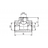 Тройник переходной полипропиленовый FV-Plast 40х32 мм (212040032)