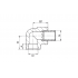 Угол полипропиленовый FV-Plast 25х3/4 НР (216025)