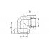 Угол полипропиленовый FV-Plast 25х3/4 ВР (218025)