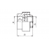 Муфта комбинированная полипропиленовая FV-Plast 40х1 1/4 ВР (217040)