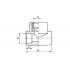 Тройник полипропиленовый FV-Plast 25х1/2 ВР (222026)