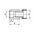 Муфта полипропиленовая с накидной гайкой FV-Plast 20х1/2 (226020)