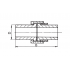 Муфта разборная (американка) FV-Plast полипропиленовая 25 мм (224025)