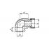 Угол полипропиленовый FV-Plast с накидной гайкой 20х1/2 (227020)