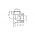 Угол с креплением (водорозетка) FV-Plast 25x3/4 ВР (219025)