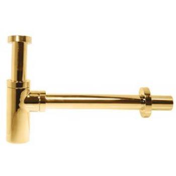 Сифон для раковины Kaiser бутылочный, 32 мм, золото (958Z-Gold)