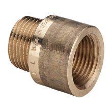 """Удлинитель Viega бронза, 1/2""""x80 мм НР-ВР (357238)"""